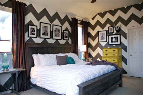 chevron bedrooms gray white chevron zig zag bedroom yellow teal
