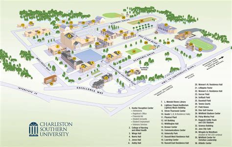 Wingate Mba Accreditation by Cus Map Charleston Southern