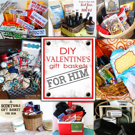 valentines gift baskets him diy s day gift baskets for him doodles