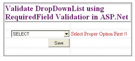 validation pattern in asp net validate dropdownlist using requiredfield validator in asp net