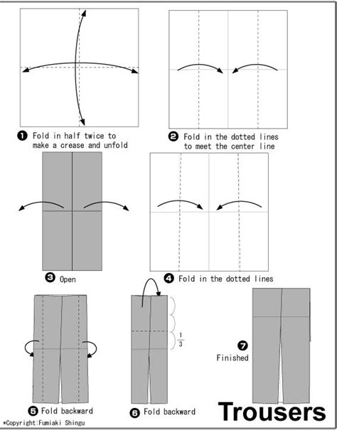 How To Make Origami Trousers - origami tuxedo trousers graphic design