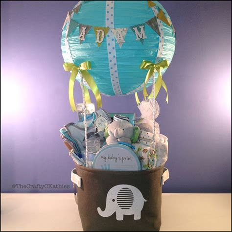 Elephant Baby Shower Balloons by Air Balloon Shower Elephant Themed Gift Basket