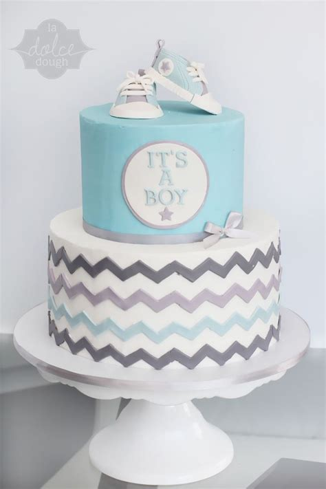 Baby Boy Shower Cakes by Best 25 Chevron Baby Showers Ideas On