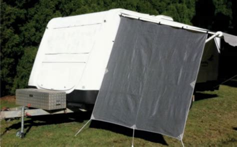 caravan sun shade awnings caravan privacy screen end wall 2300 x 2100 sun shade cloth awning shadecloth ebay