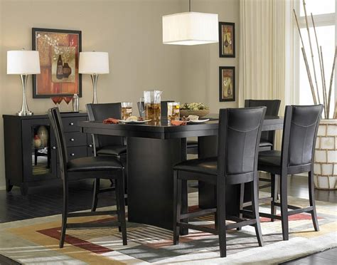 black modern dining room sets dining room awesome cheap black dining room sets round