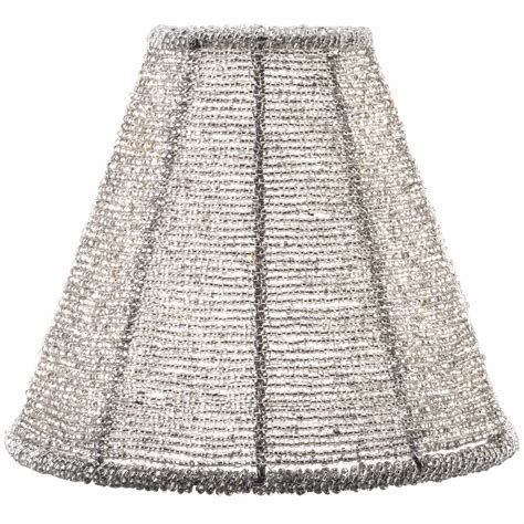 beaded canopy sterno products 85430 silver beaded l shade