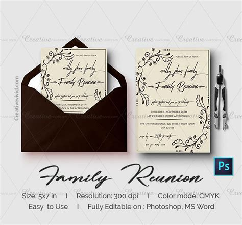19 Family Reunion Invitation Templates Free Premium Download Family Card Template 2
