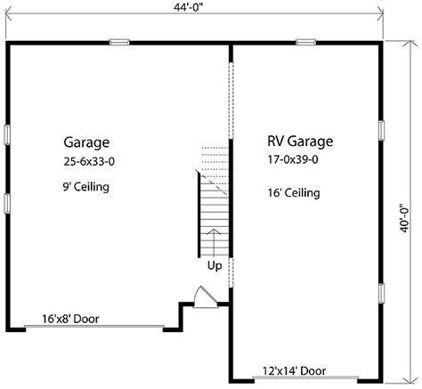 rv garage floor plans rv garage plan