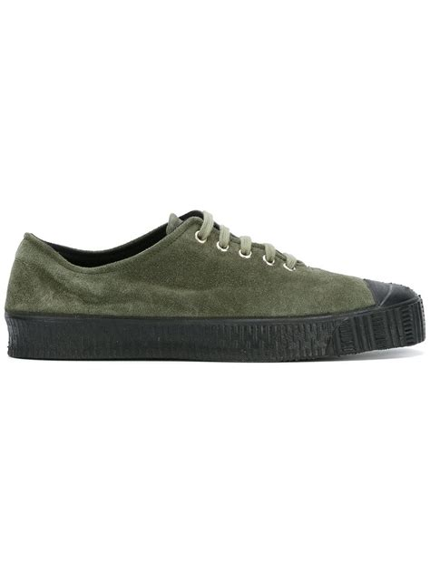 comme des garcons mens sneakers comme des gar 231 ons lace up sneakers in green for lyst