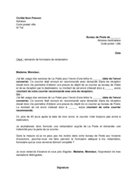 Exemple courrier recommandé exemple de lettre recommandée