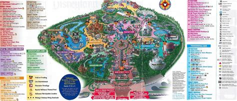 disneyland park map california disney land tour disneyland la