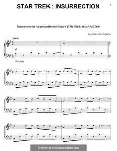 theme music now voyager star trek voyager theme sheet music