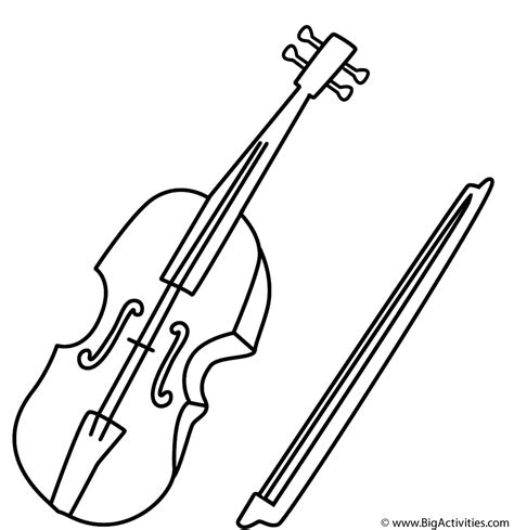 coloring page of violin letter v coloring page alphabet