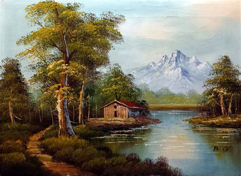 bob ross painting mountain ridge bob ross painting cabin by william tillis 183 june 4 2014