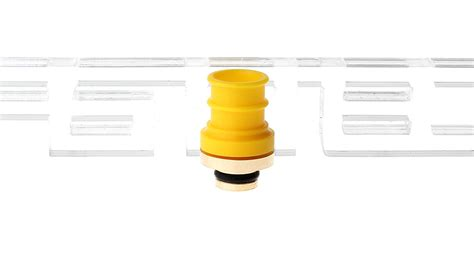 Stainless Steel Pom 510 Drip Tips Gold Plated 2 02 stainless steel pom hybrid 510 drip tip yellow