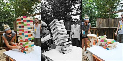backyard jenga game diy backyard giant jenga game diy avenue