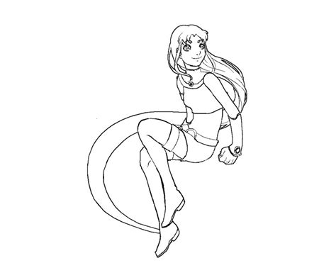 coloring page starfire starfire free colouring pages