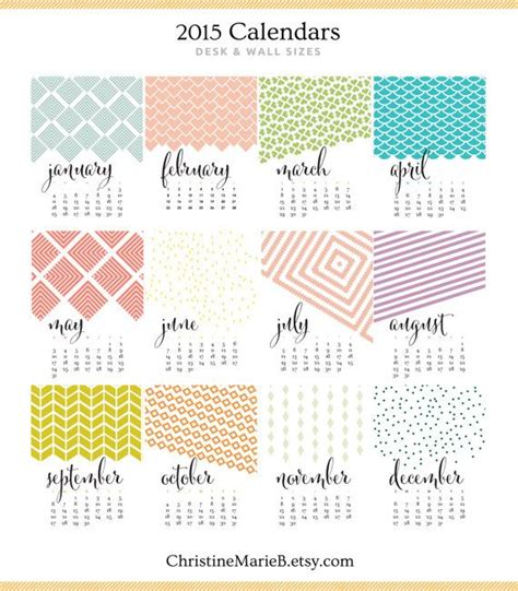 home design editorial calendar 2016 2017 monthly wall calendar bold modern chic designs 11