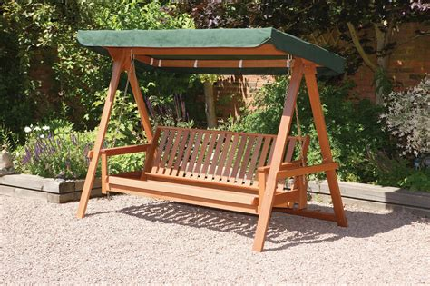 wooden swing bench garden swings the enchanting element in your backyard