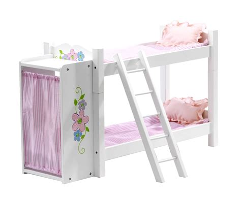 american girl doll bunk bed floral design clothes armoire with doll bunk bed fits 18