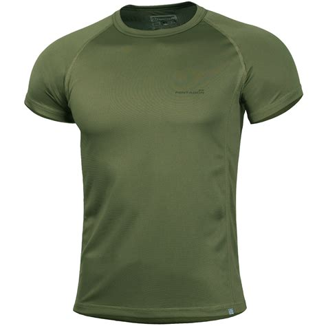t shirt pentagon body shock t shirt olive green t shirts vests