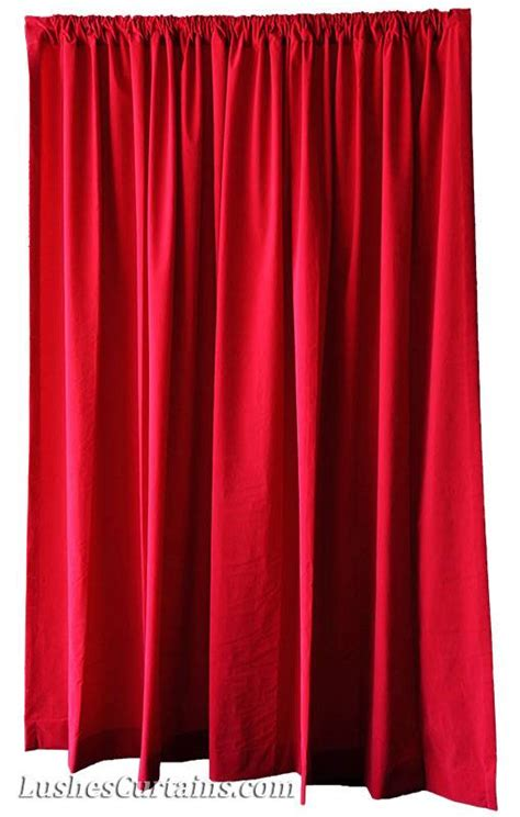 red velvet drapes custom movie theater window drapes cherry red velvet 108