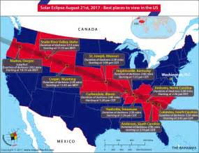 us map solar eclipse 2017 total solar eclipse 2017 10 best places to the