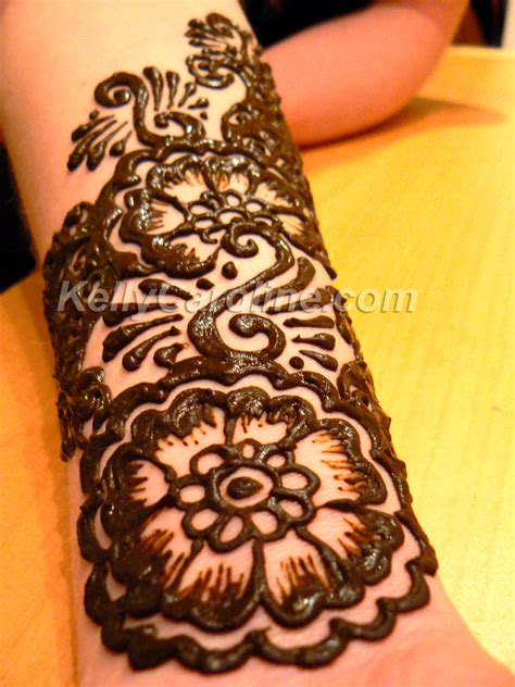 henna tattoo on lower arm forearm caroline