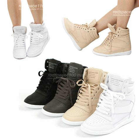 hi heeled sneakers fashion sneakers wedges high top lace up high
