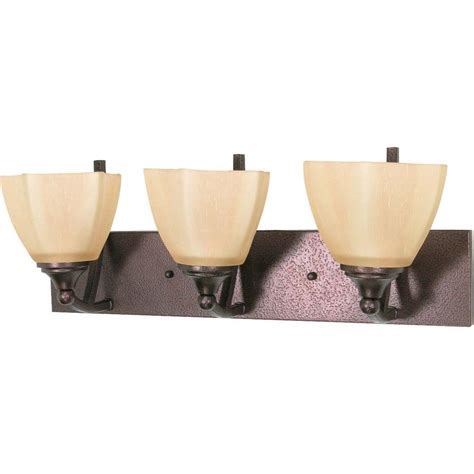 Glomar 3 Light Mahogany Bronze Vanity Light With Chagne Linen Washed Glass Hd 1265 The Home Glomar 4 Light Mahogany Bronze Vanity Light With Chagne Linen Washed Glass Hd 1266 The Home