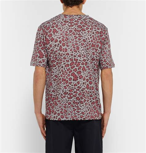lyst dries noten leopard print cotton jersey t shirt in for