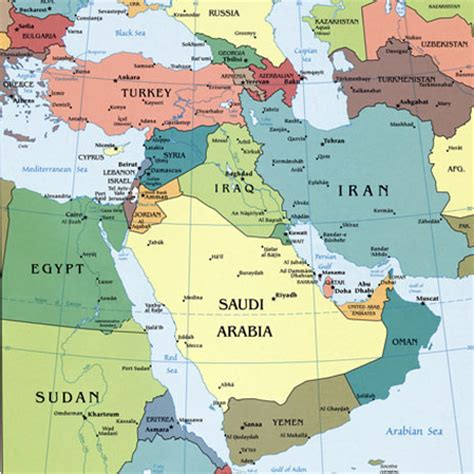 middle east map of the world middle east capital cities map map of middle east