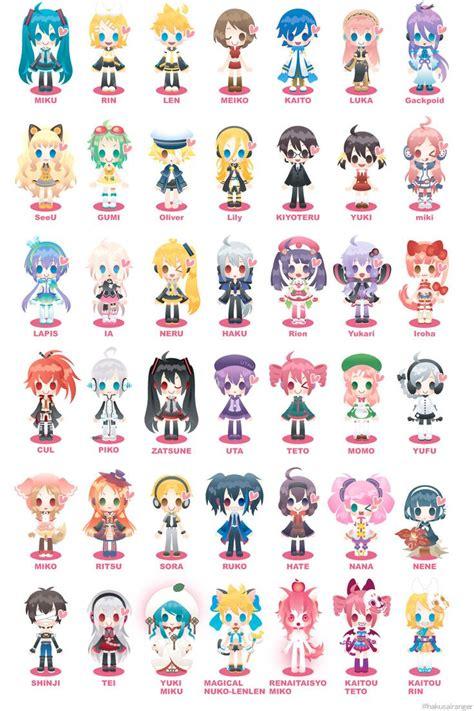 Y Anime Names by Chibi Vocaloid Hatsune Miku Kagamine Rin Kagamine Len