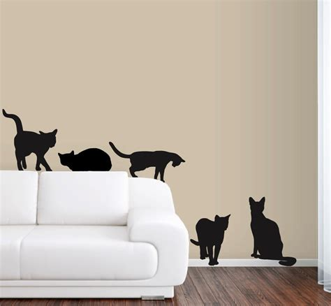 lifesize wall stickers 6 cats wall decals in size free shipping