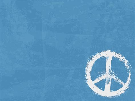 Peace Sign Powerpoint Templates   Blue, Objects   Free PPT