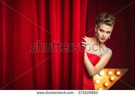 behind the nudist curtain behind the curtain stock images royalty free images
