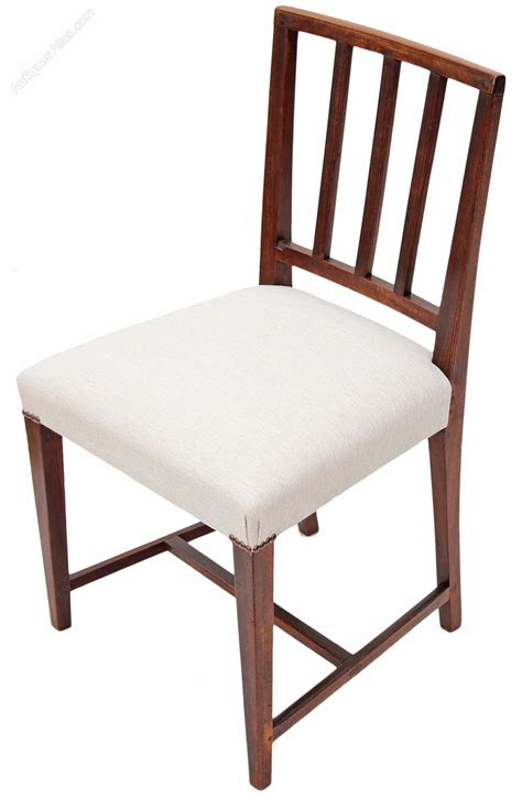 Dining Chair Set Set Of 6 Georgian Dining Chairs Mahogany Antiques Atlas