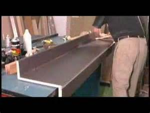 gluing and trimming plastic laminate countertop