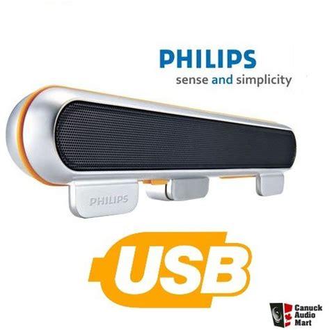 Philips X55p Pink Laptop by Philips Spa5210 Laptop Usb Soundbar Speaker Silver Pc