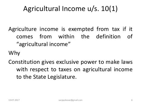 section 7 of the income tax act income exempted under section 10 of income tax act 1961