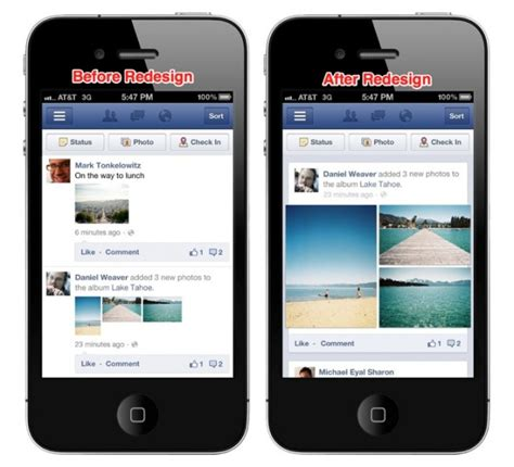 newspaper layout app facebook rolling out improved news feed photo layout to