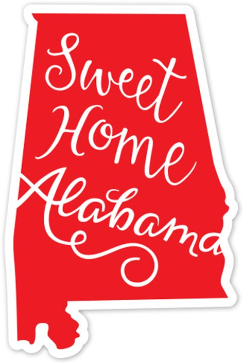 sweet home alabama by pink house press 6793 sticker mule