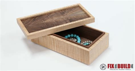 how to make jewelry boxes how to make a simple wooden jewelry box fixthisbuildthat