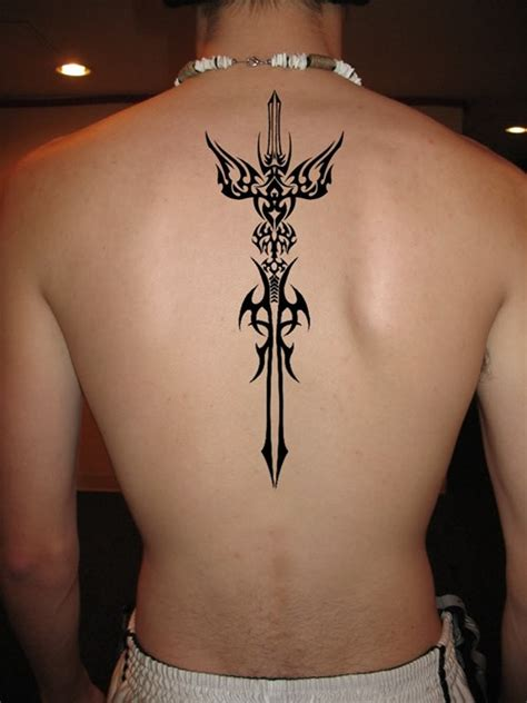 cool tribal sword tattoo for men tattoos for men