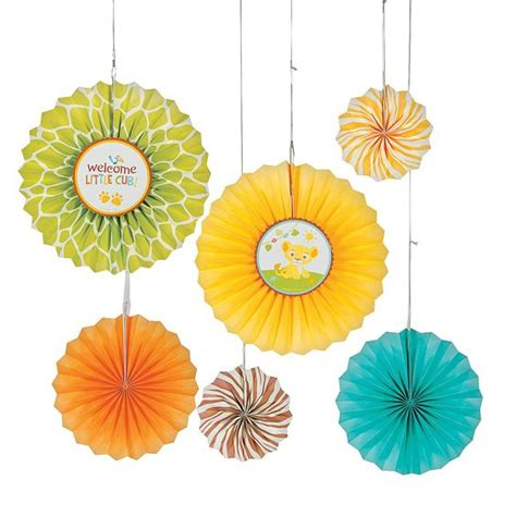 How To Make Circle Paper Fans - sweet circle of paper fan decorations