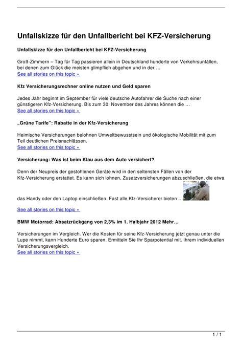 Musterkündigung Kfz Versicherung Pdf Unfallskizze F 252 R Den Unfallbericht Bei Kfz Versicherung
