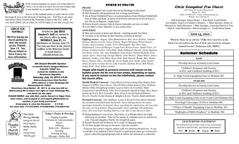 free bulletin template 8 best images of church bulletin templates free printable