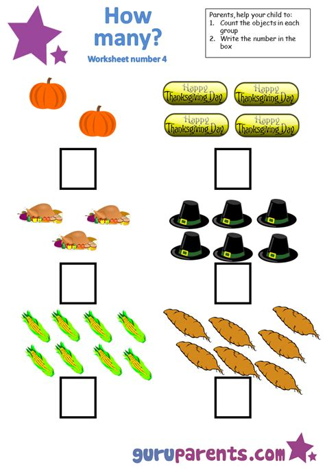 math counter with math worksheet counting 4 kindergarten