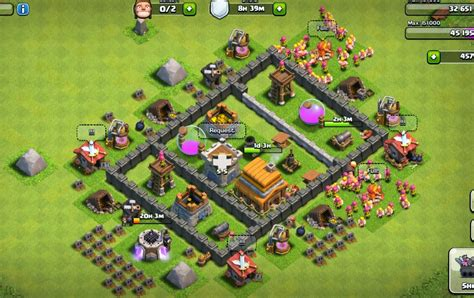 village layout for town hall 4 clash of clans town hall level 4 base images impremedia net