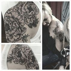 indigo rose tattoo shoulder tattoos on shoulder tattoos for